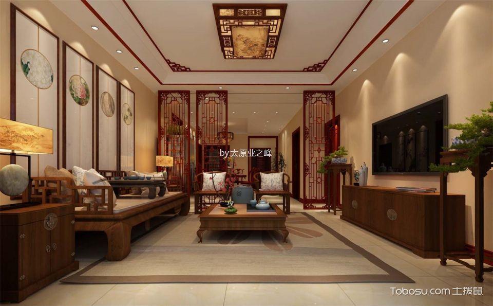 新中式风格150平米3房2厅房子装饰效果图