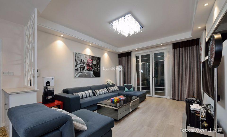 现代风格90平米公寓室内装修效果图