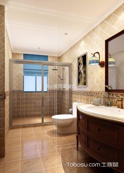 卫生间白色吊顶地中海风格装修图片