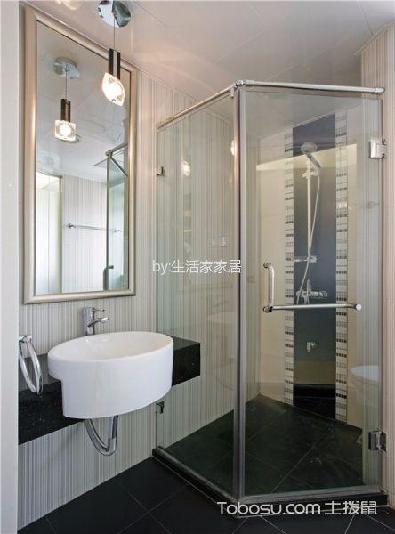 卫生间白色吊顶简约风格装修图片