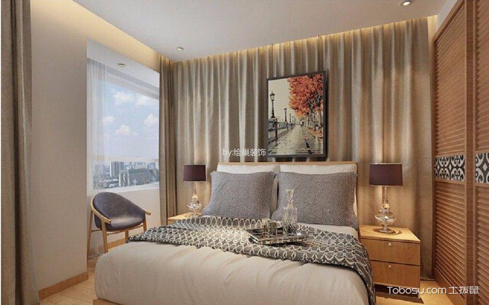 卧室白色吊顶北欧风格装修设计图片
