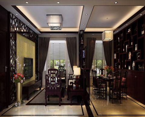 中式风格110平米四室两厅室内装修效果图