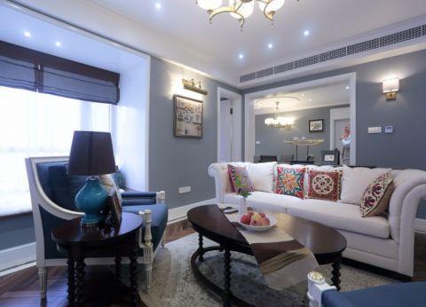 美式风格117平米三房两厅新房装修效果图