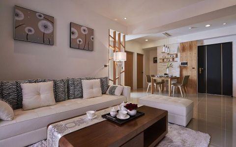 现代简约风格142平米三房两厅新房装修效果图