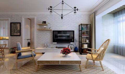 辰兴优山美郡三居室北欧风格效果图装修设计