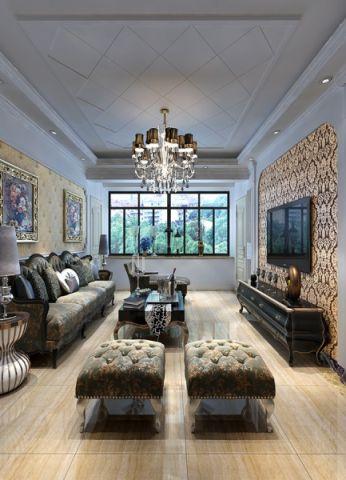 欧式风格110平米楼房房子装饰效果图