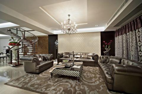新古典风格300平米别墅新房装修效果图