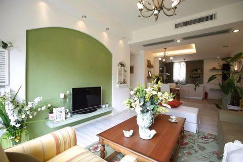 田园风格120平米3房2厅房子装饰效果图