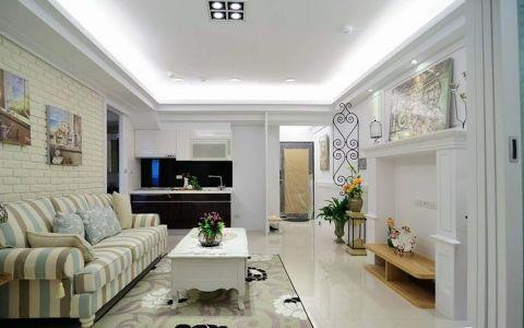 田园风格60平米一房两厅新房装修效果图