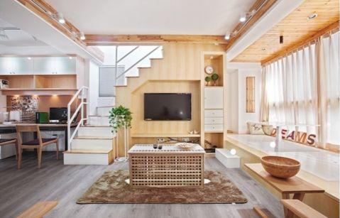 利君未来城现代简约93平二居室装修效果图