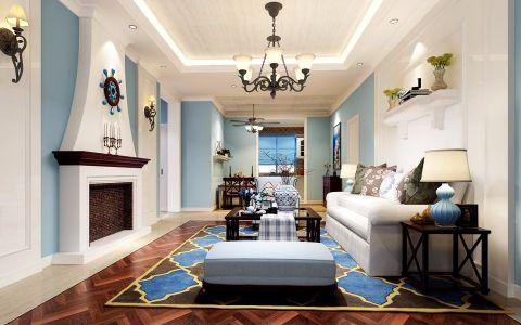 牛津公馆地中海风格123平三室两厅装修设计