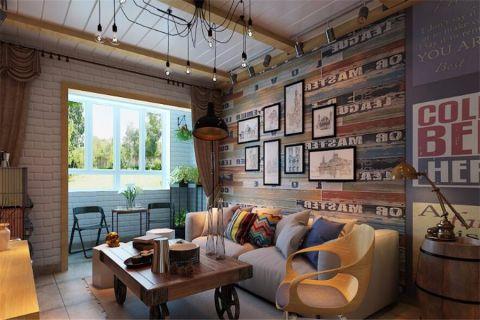 混搭风格90平米楼房房子装饰效果图