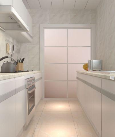 厨房白色推拉门现代简约风格装潢图片