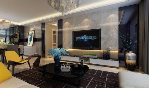 客厅吊顶现代简约风格装潢效果图