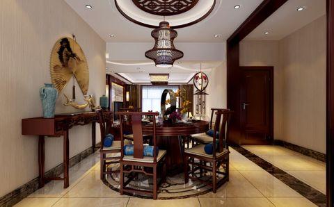 餐厅走廊中式风格装饰效果图