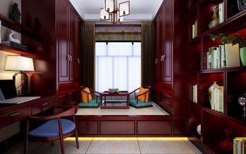 书房榻榻米中式风格装修设计图片