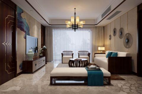 中式风格120平米大户型新房装修效果图