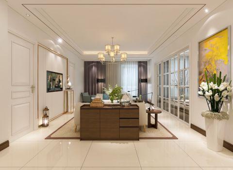 简欧风格120平米大户型新房装修效果图