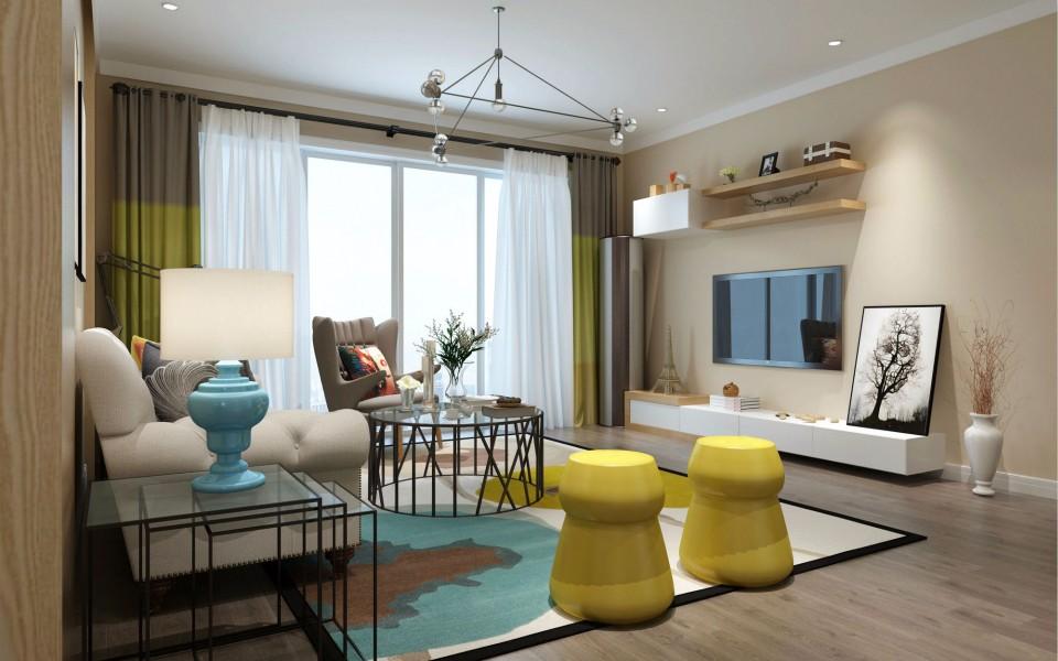 2室1卫2厅104平米现代风格