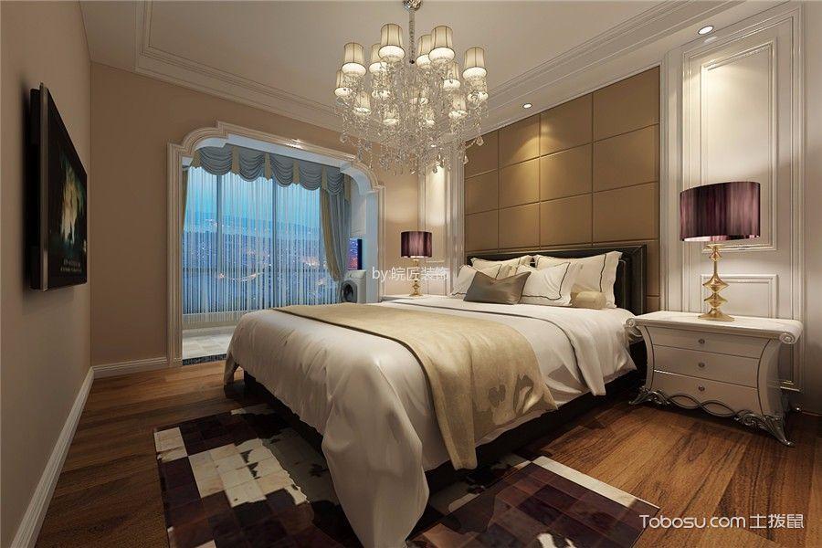 卧室咖啡色背景墙后现代风格装潢图片