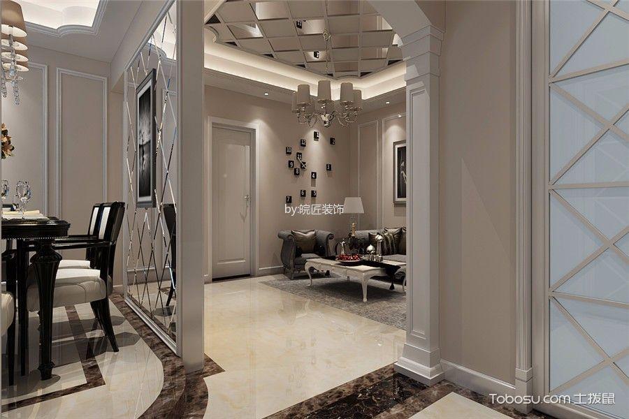 客厅白色吊顶后现代风格装饰设计图片