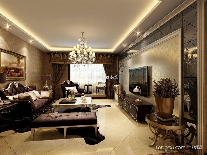 欧式风格136平米两室两厅室内装修效果图