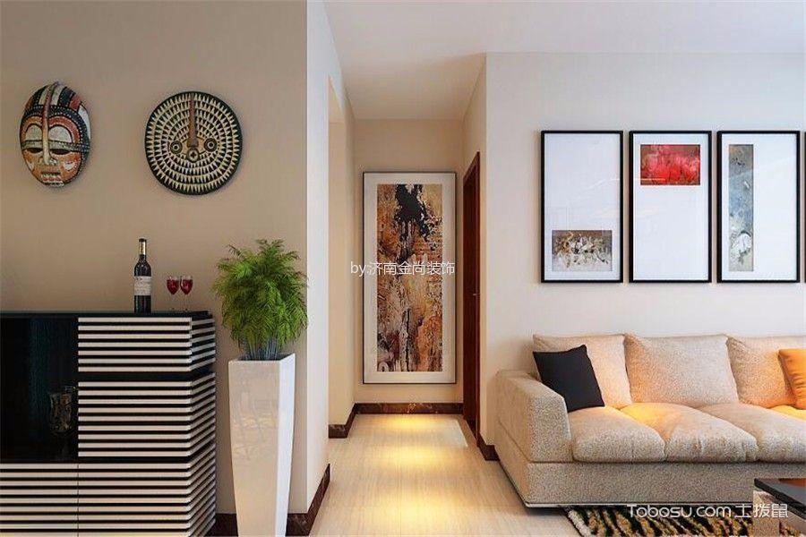 客厅米色走廊现代简约风格装饰图片