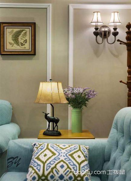 客厅蓝色沙发家装设计