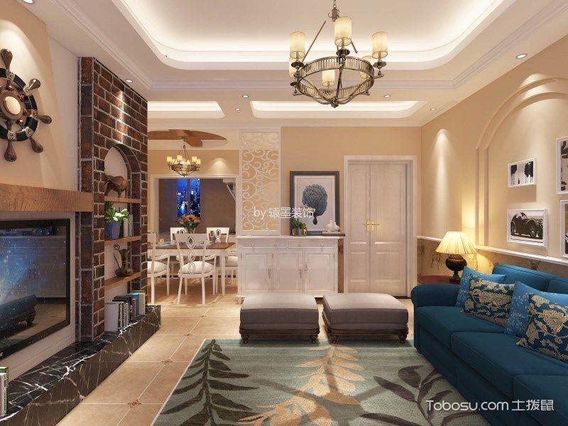 客厅白色吊顶田园风格效果图