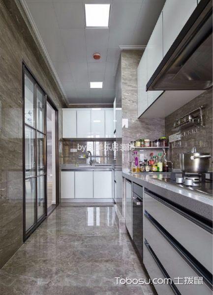 厨房白色吊顶现代风格装修设计图片