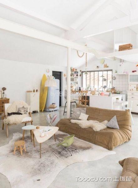 北欧风格100平米3房2厅房子装饰效果图