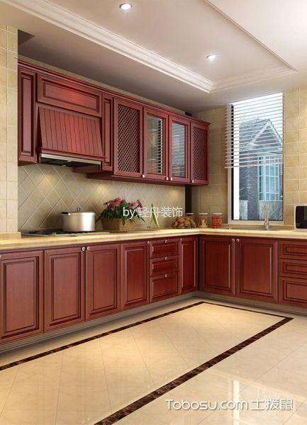 厨房米色背景墙简欧风格装修图片