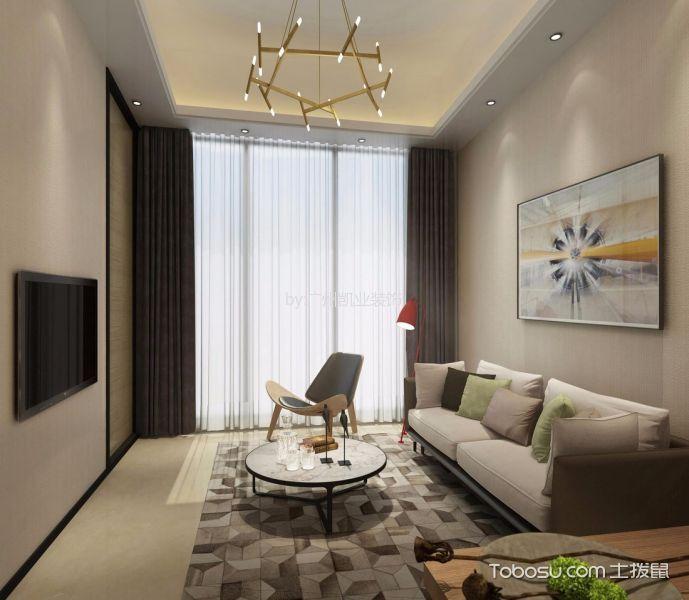 客厅白色沙发现代简约风格装修图片