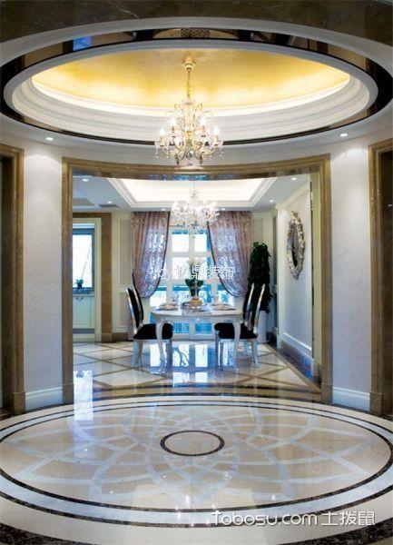 玄关黄色吊顶新古典风格装修设计图片