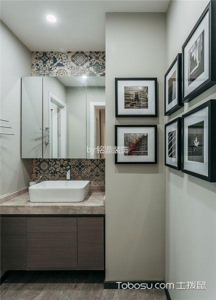 卫生间白色照片墙现代风格装修图片