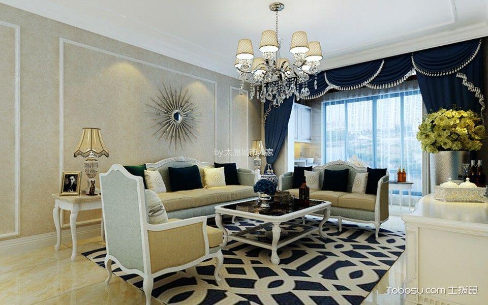 华润中海幸福里101平米两居室现代简约风格装修效果图