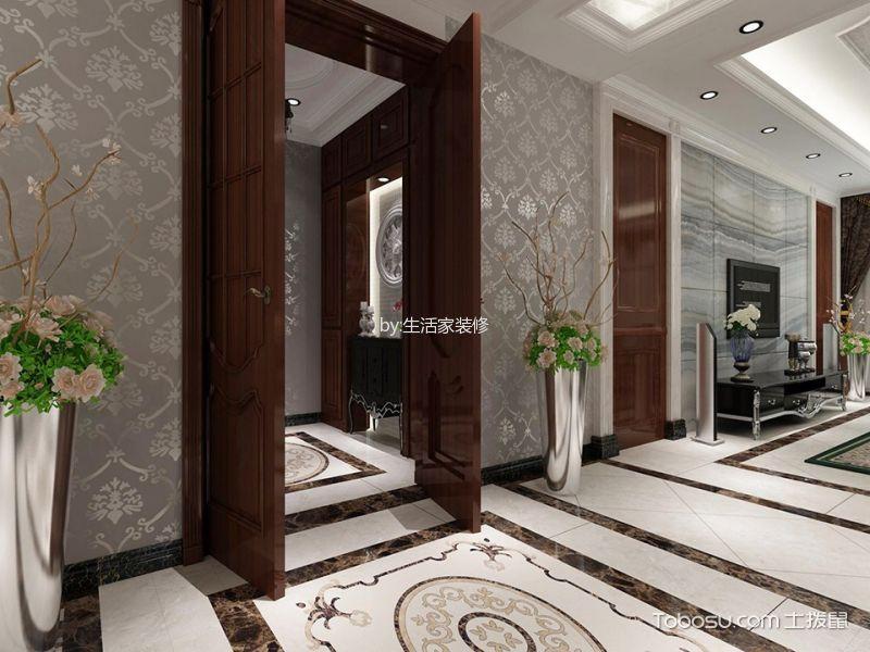 玄关白色吊顶新古典风格装修图片