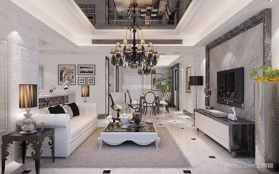 简欧风格135平米三室两厅室内装修效果图