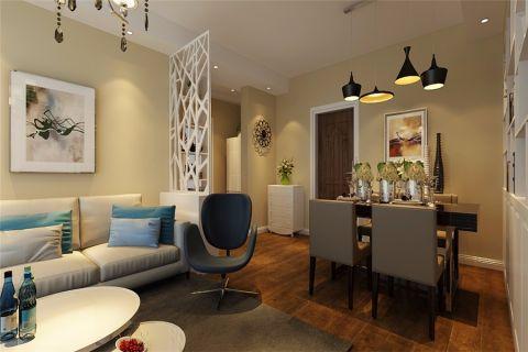 客厅白色隔断现代风格装饰图片