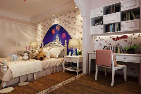 儿童房白色背景墙现代风格装饰设计图片