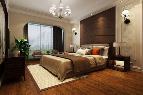 卧室咖啡色背景墙现代风格装潢设计图片
