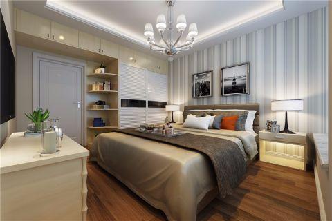 卧室白色吊顶现代风格装修设计图片