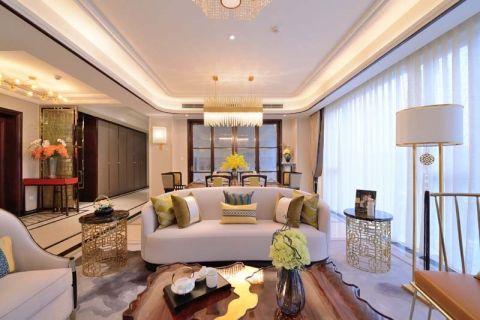 客厅白色吊顶现代风格装修设计图片