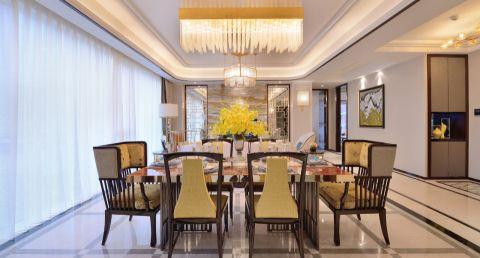 餐厅白色吊顶现代风格装饰设计图片