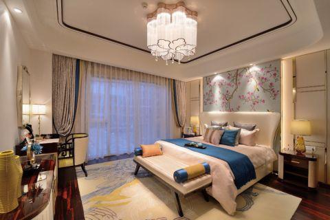 卧室彩色背景墙现代风格装潢设计图片