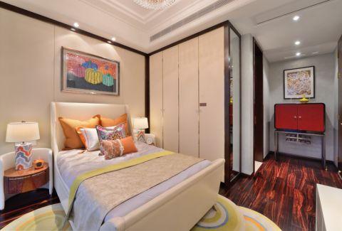 卧室米色背景墙现代风格装修效果图