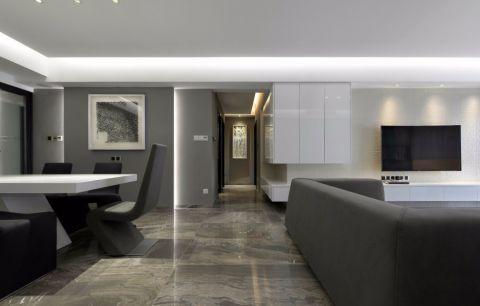 2018现代简约客厅装修设计 2018现代简约走廊效果图