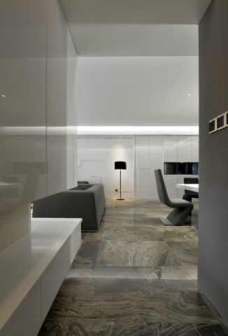 2018现代简约餐厅效果图 2018现代简约走廊装修设计图片