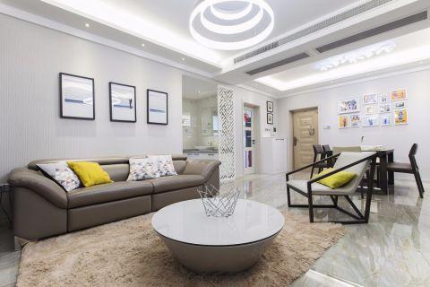 客厅白色照片墙现代风格装修效果图