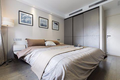 卧室白色照片墙现代风格装潢效果图